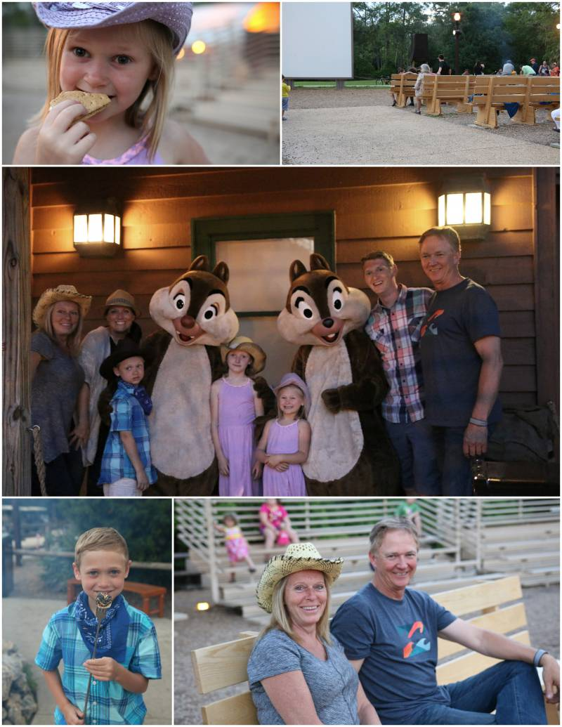 Chip and Dale's campfire singalong at Fort Wilderness Campground in Disney World