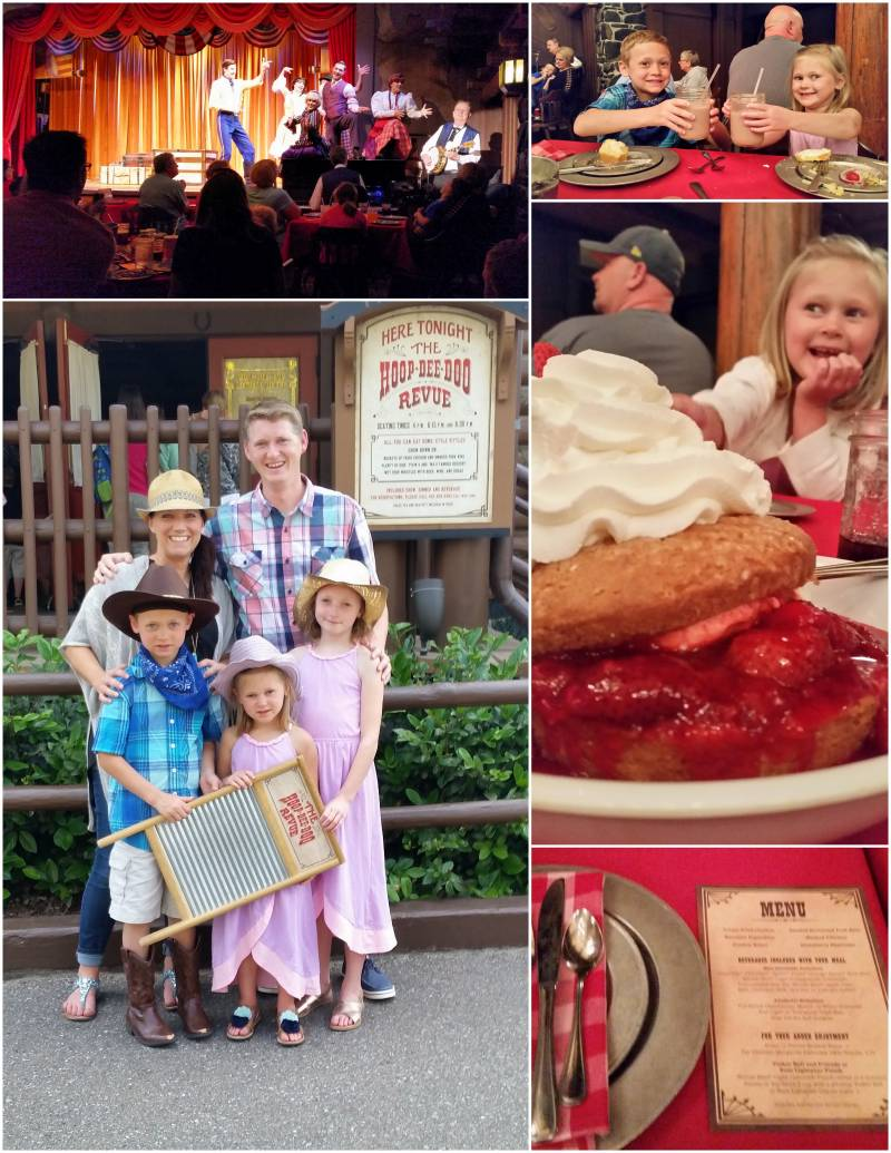 Disney's Hoop-Dee-Do Review dinner show at Fort Wilderness Campground