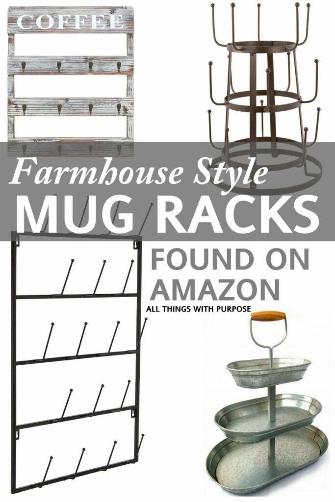 Farmhouse Style Mug Racks