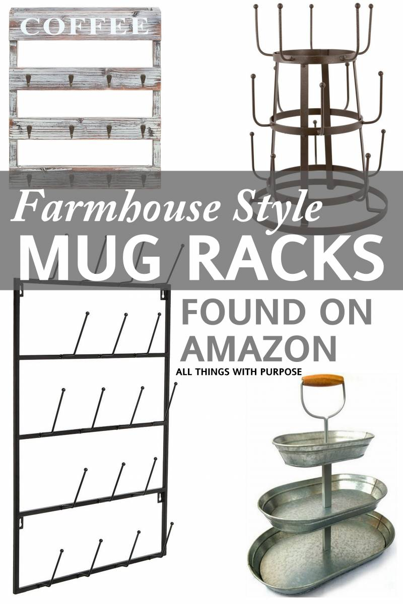 fixer upper style farmhouse mug racks