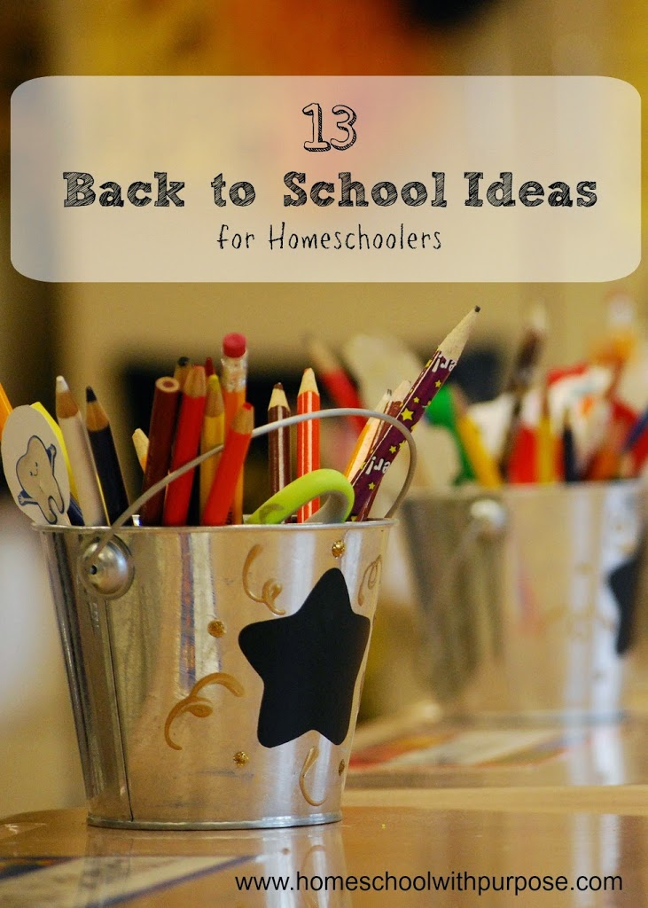 13 Fun Back to School Ideas for Homeschoolers