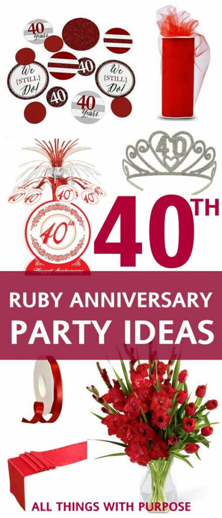 40TH RUBY ANNIVERSARY