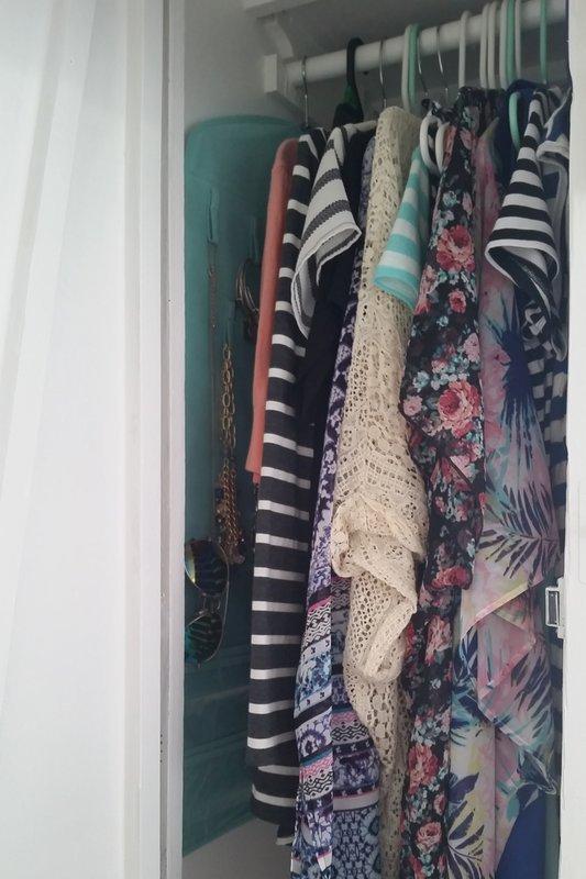 vintage camper closet space