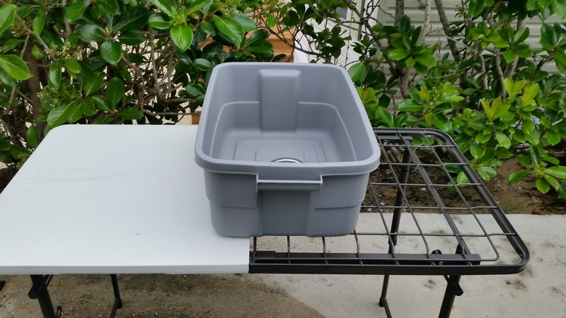 diy camping dish washing station - camping sink