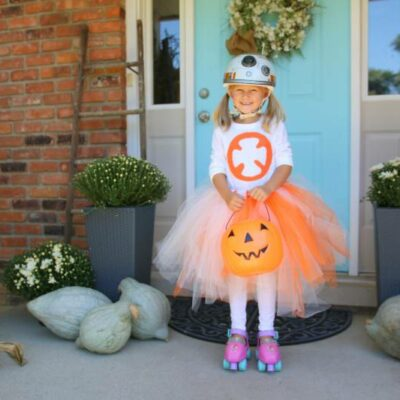 No-Sew Star Wars BB-8 Costume for Girls!