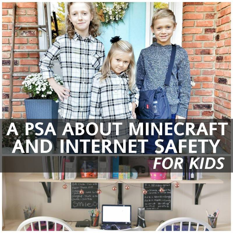 A PSA about Minecraft and Internet Safety