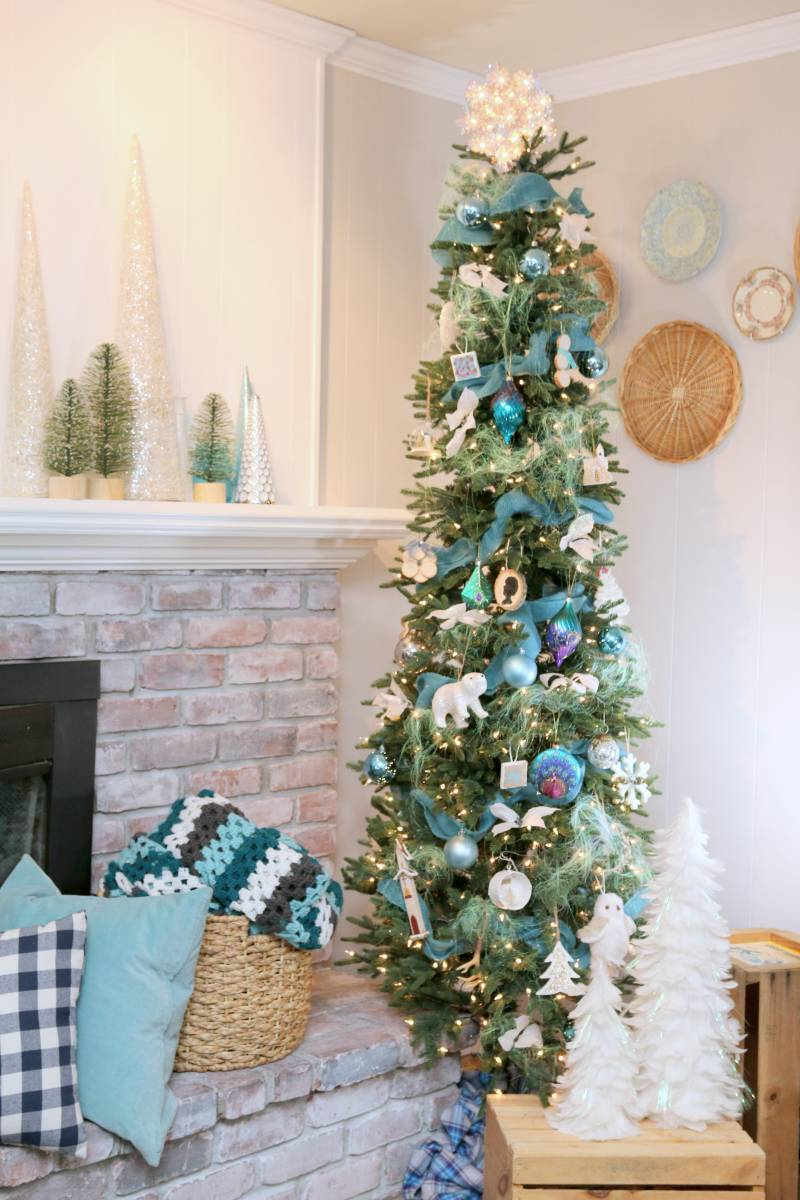 A Slim Christmas Tree for a Small Space