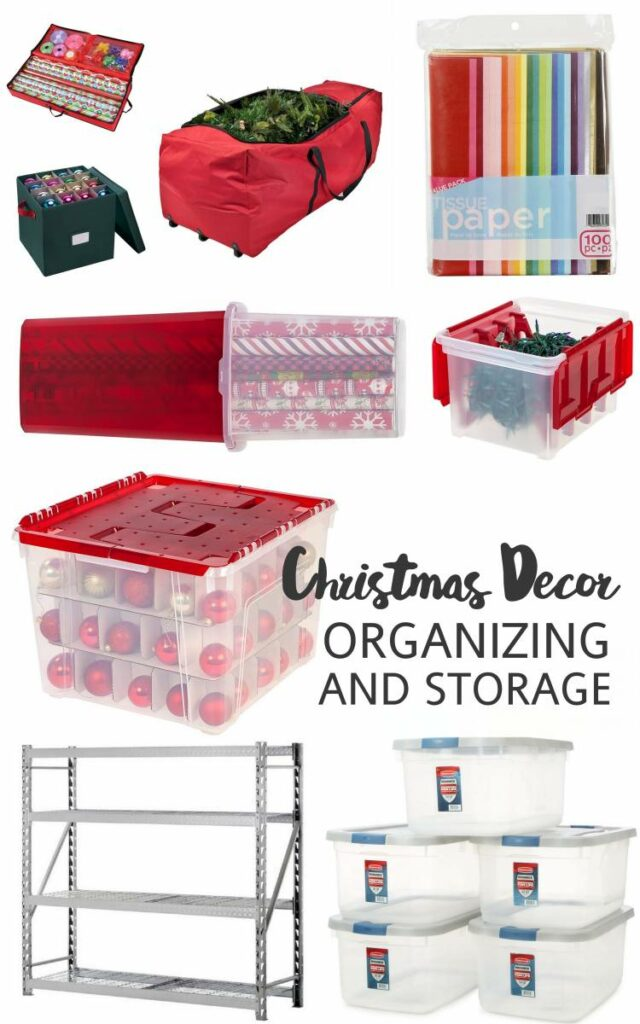 Christmas Decor Organization