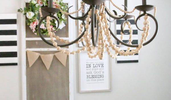 Get the Look: Wood Bead Chandelier DIY