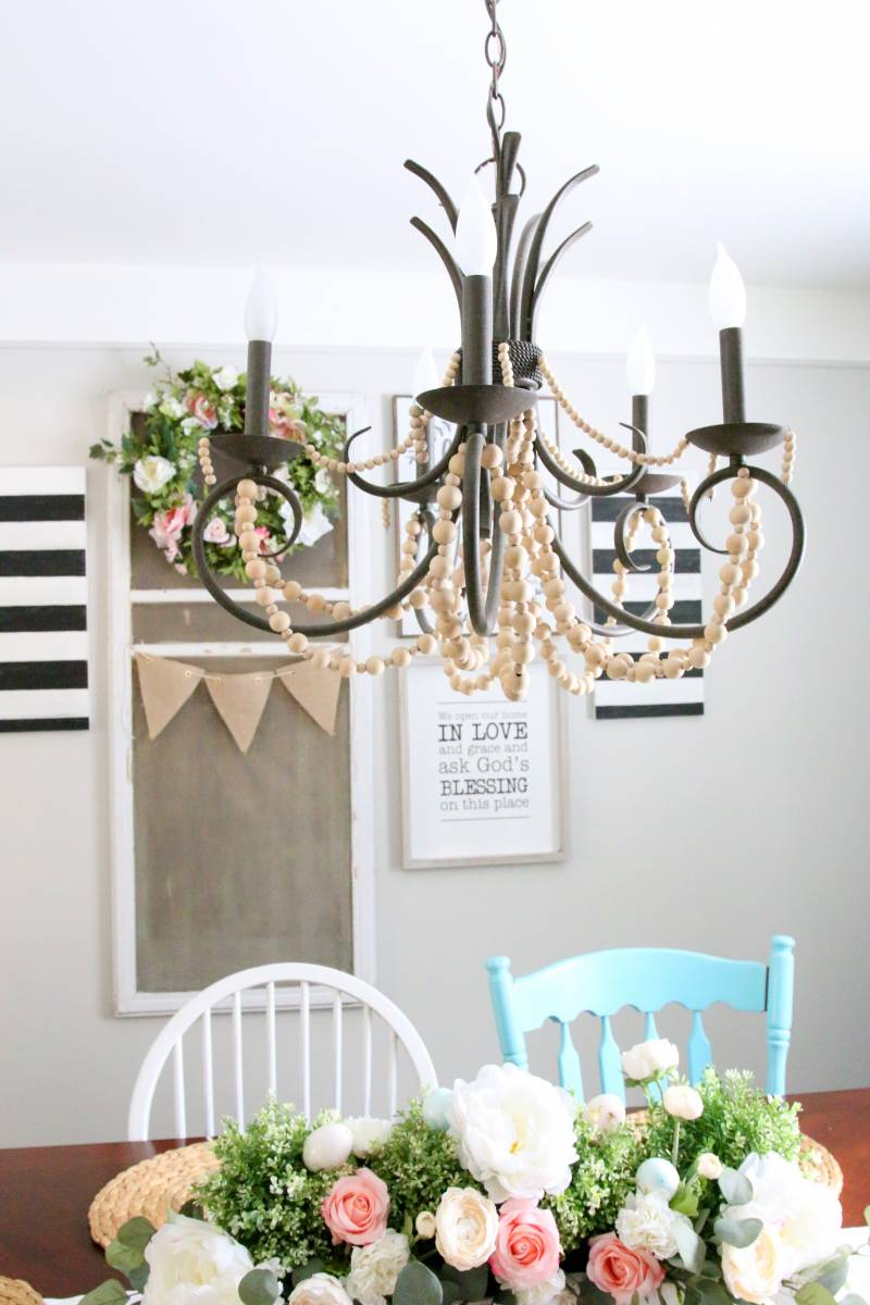 Get the Look: Wood Bead Chandelier DIY