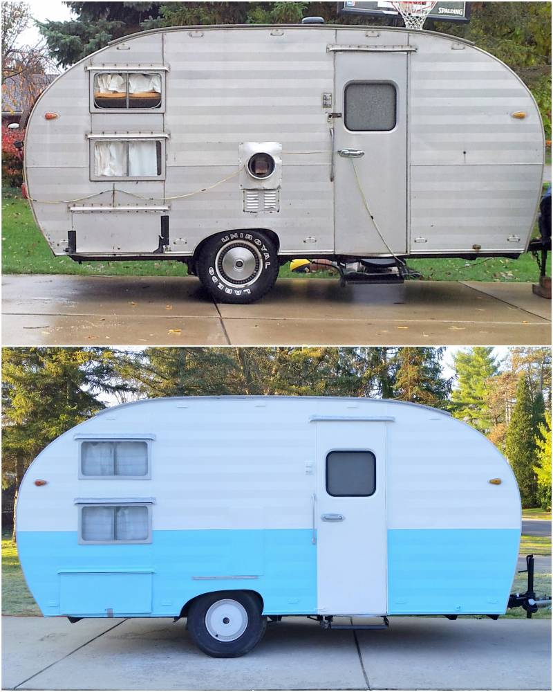Our Vintage Camper: Before and After 3