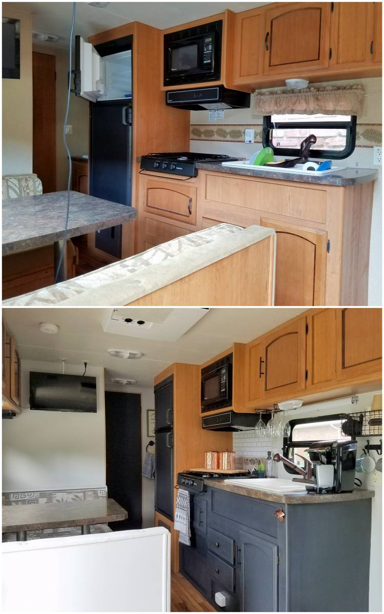 Easy Travel Trailer Remodel on a Budget: Outdated to Modern