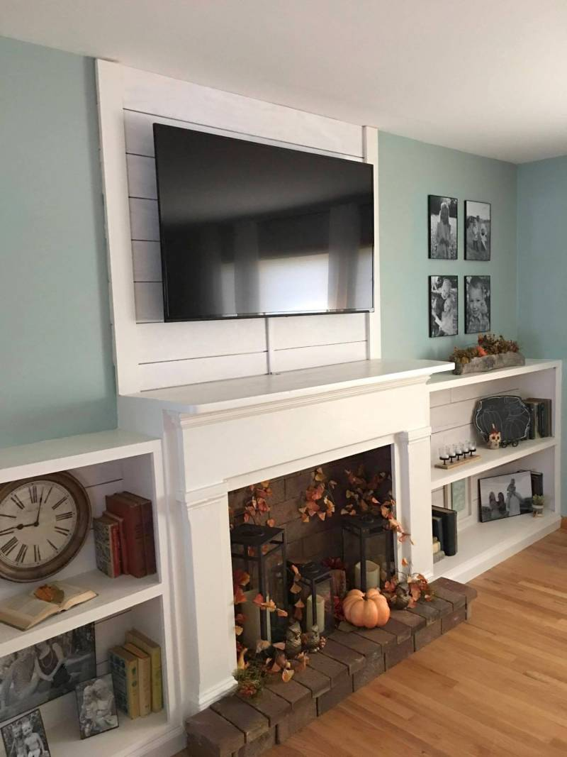 Painted Faux Fireplace