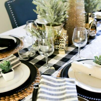 Styling a Christmas Table