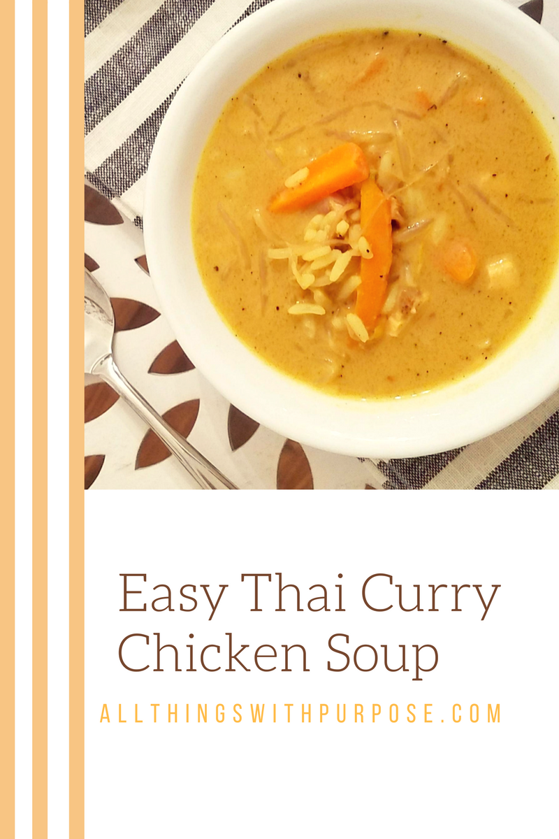 Easy Thai Curry Chicken Soup 2