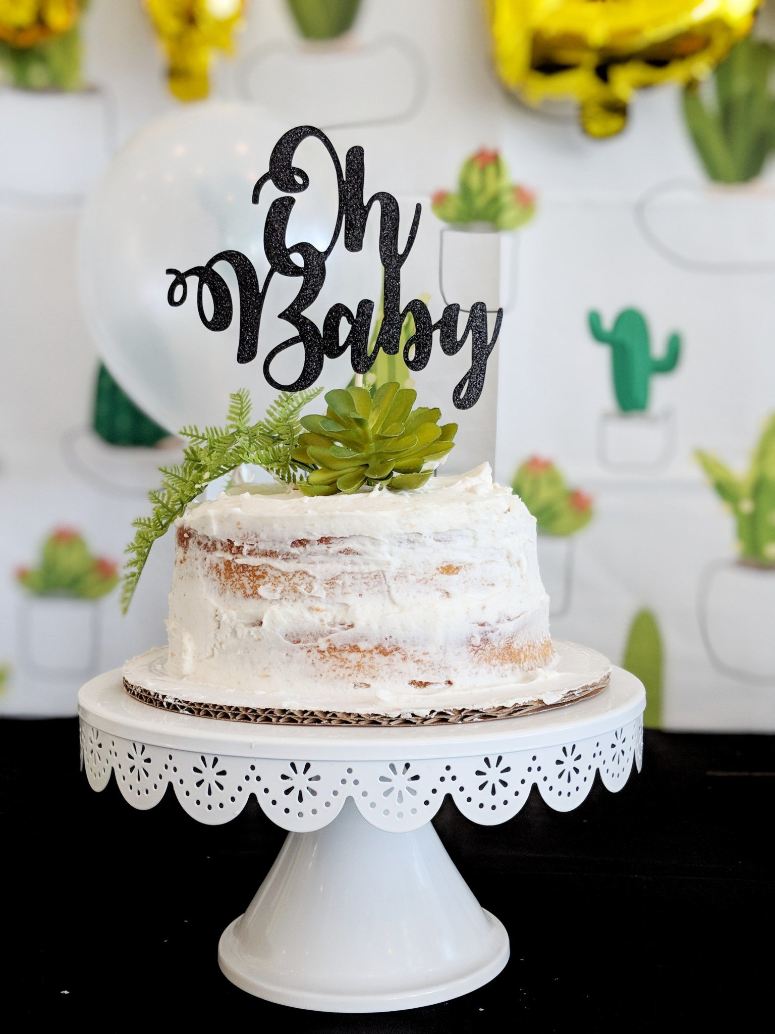 Cactus Themed Baby Shower