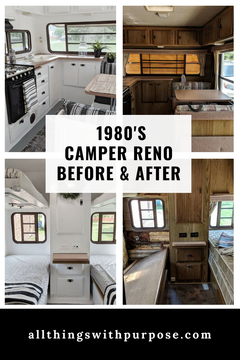 Easy Travel Trailer Remodel On A Budget Outdated To Modern