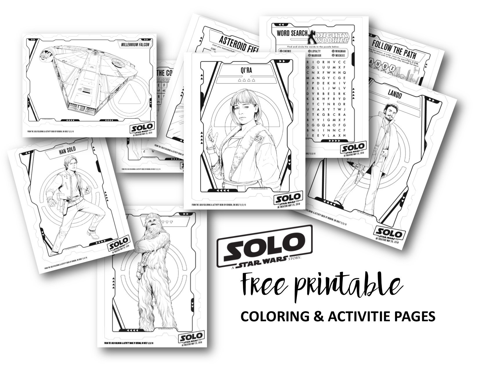 SOLO Coloring and Activity Pages SOLO: A Star Wars Movie