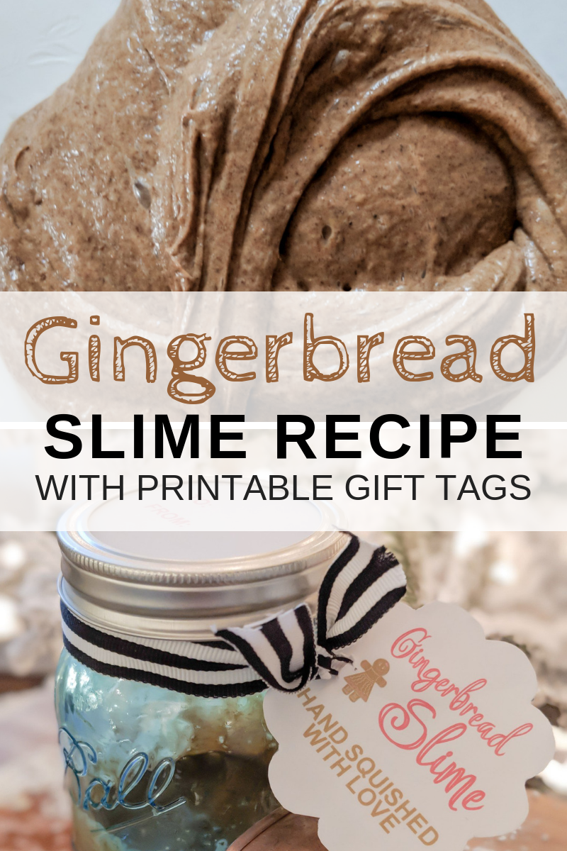 Gingerbread Slime With Gift Tags