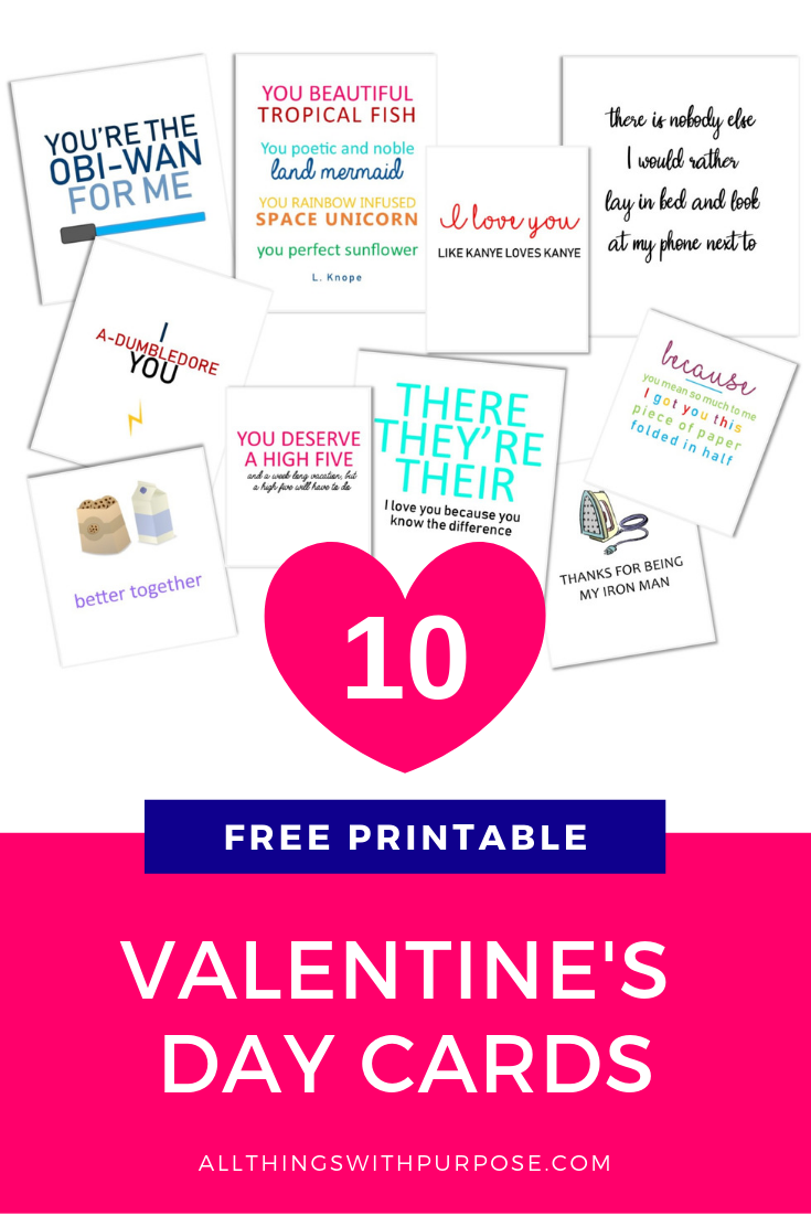 picture regarding Would You Rather Cards Printable identified as Printable Humorous Valentine Playing cards