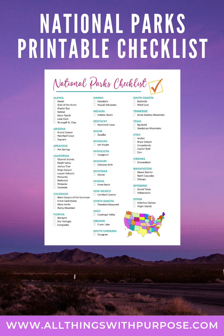 photograph regarding Printable List of National Parks referred to as United Says Nationwide Parks Free of charge Printable Listing
