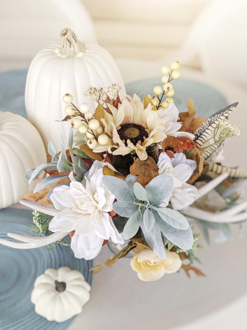 Diy Neutral Fall Floral Arrangement For Under 10 Aadiy