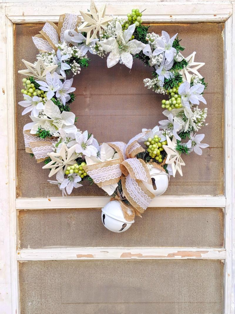 Make This Dollar Tree Rustic Glam Christmas Wreath For