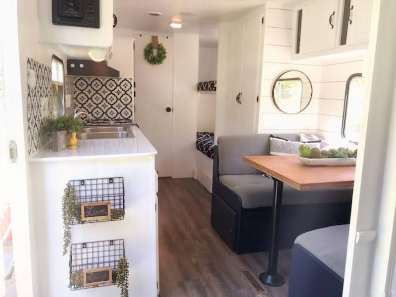 SOLD: Renovated 25' Fleetwood Mallard Camper for Sale All Things with Purpose Sarah Lemp 16