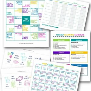 Cleaning and Chore Charts (DIGITAL DOWNLOAD) All Things with Purpose Sarah Lemp