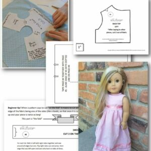 "Basic Dress Pattern for 18"" Dolls (Digital Download) All Things with Purpose Sarah Lemp"