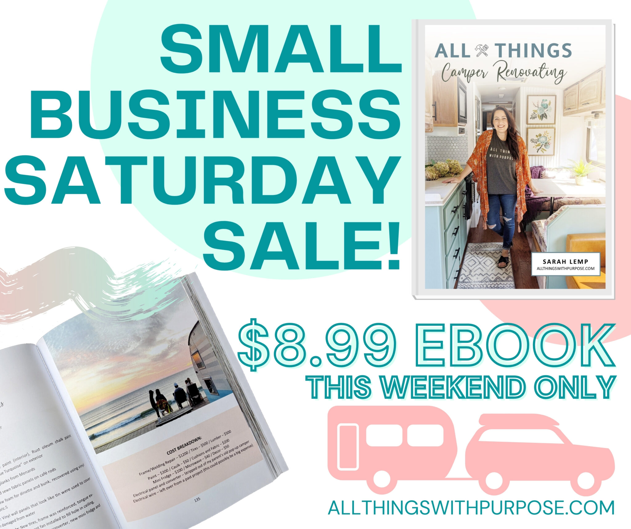 Small Business Saturday eBook Sale All Things with Purpose Sarah Lemp