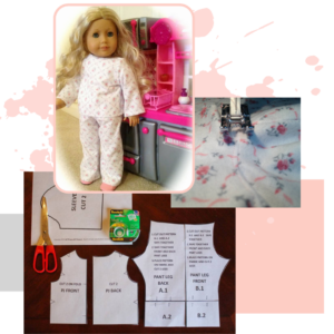 "18"" Doll PJ Pattern (Digital Download) All Things with Purpose Sarah Lemp"