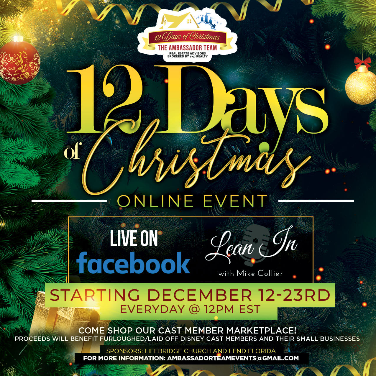 12 Days of Christmas Cast Member Marketplace All Things with Purpose Sarah Lemp