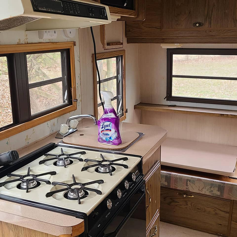 This Tiny Vintage Trailer was Transformed Into an Adorable Home on Wheels All Things with Purpose Sarah Lemp 8