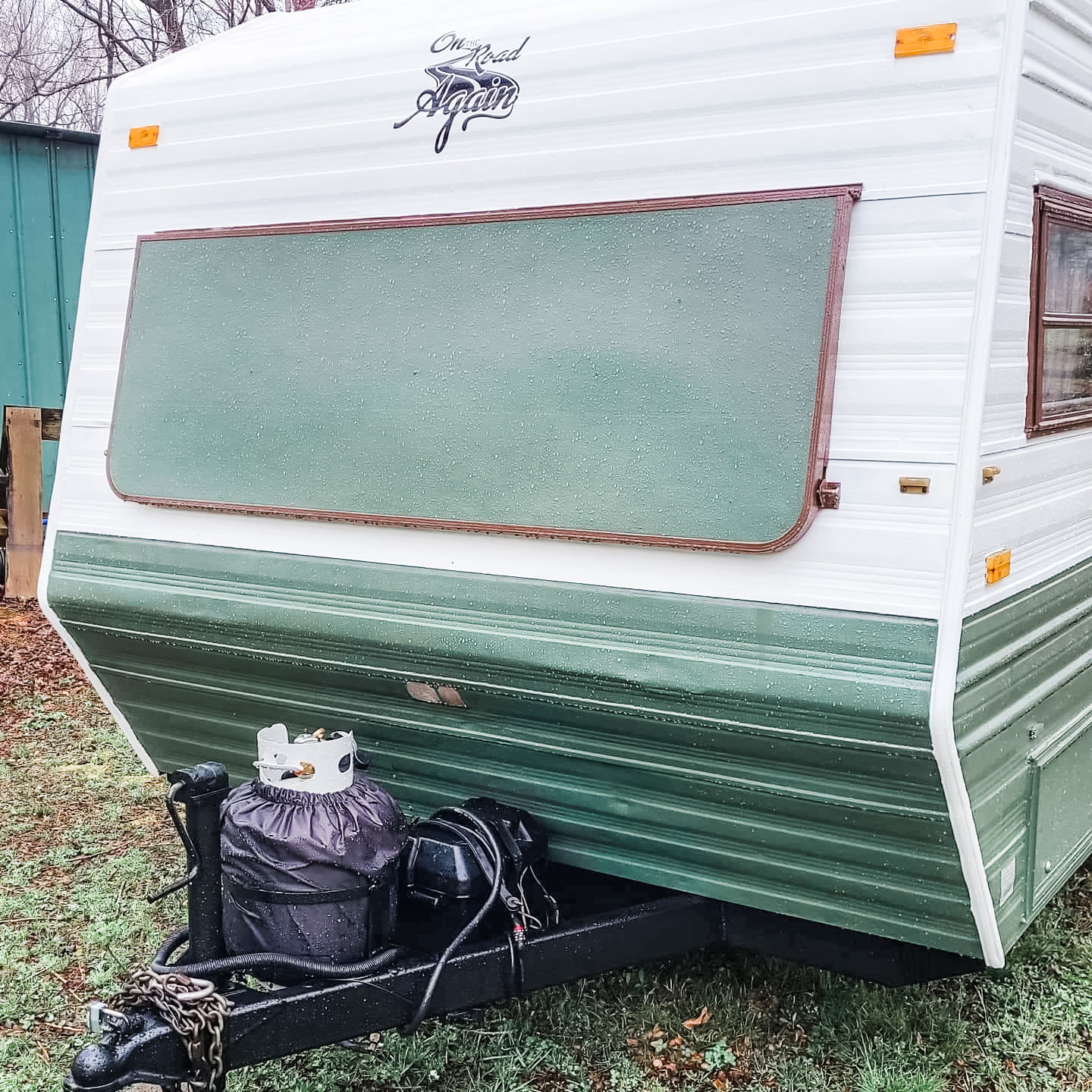 This Tiny Vintage Trailer was Transformed Into an Adorable Home on Wheels All Things with Purpose Sarah Lemp 34