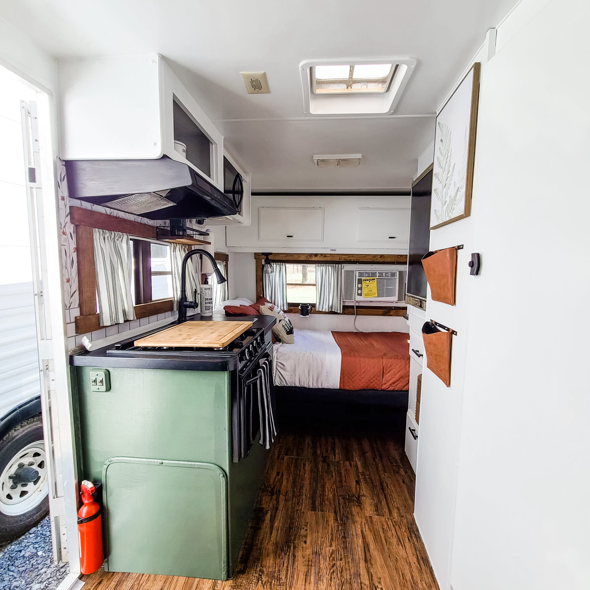 This Tiny Vintage Trailer was Transformed Into an Adorable Home on Wheels All Things with Purpose Sarah Lemp 26
