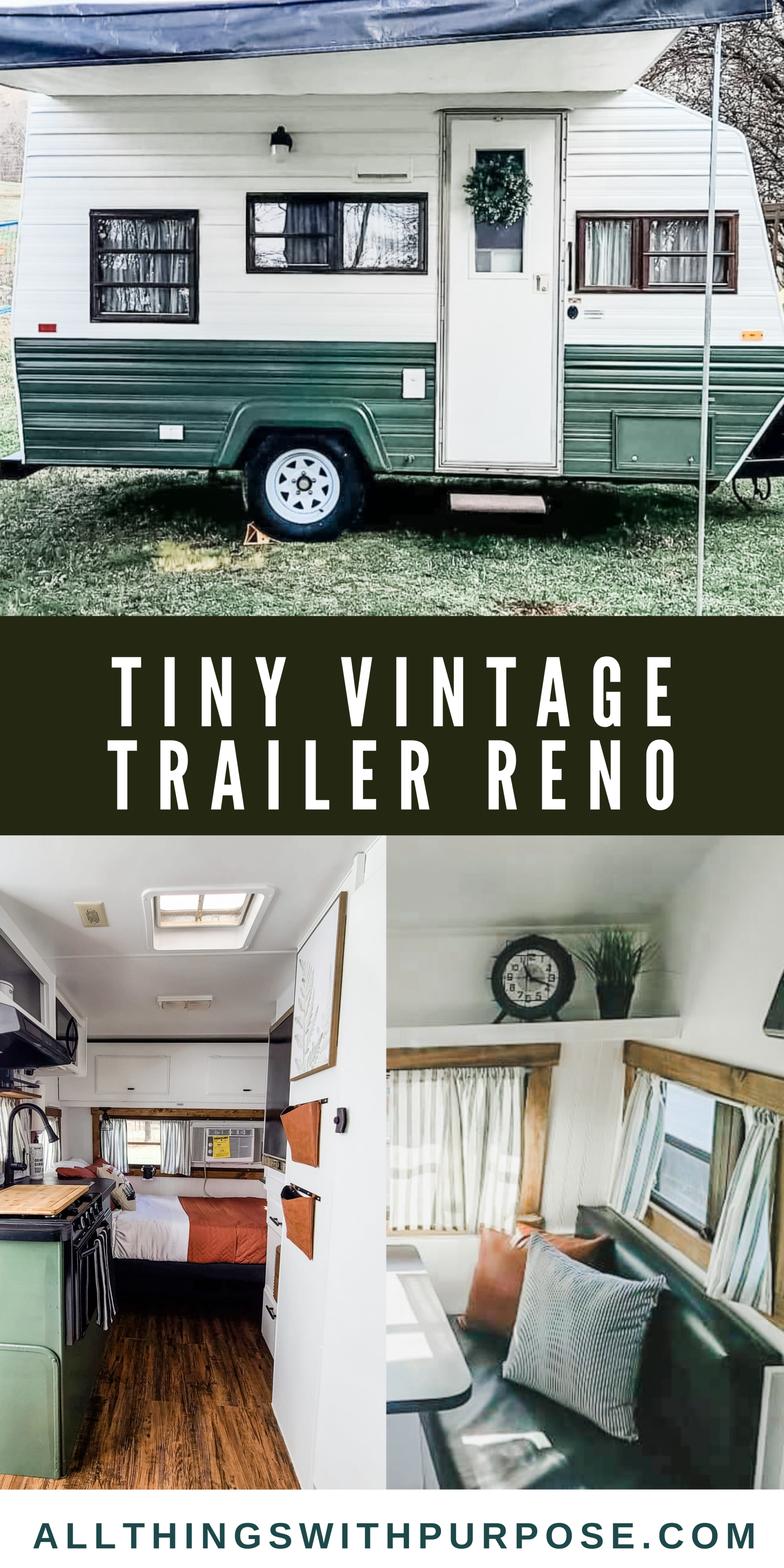 This Tiny Vintage Trailer was Transformed Into an Adorable Home on Wheels All Things with Purpose Sarah Lemp 42