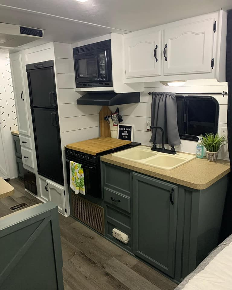 You Have to See This $800 Cherokee Lite Travel Trailer Transformation All Things with Purpose Sarah Lemp 8