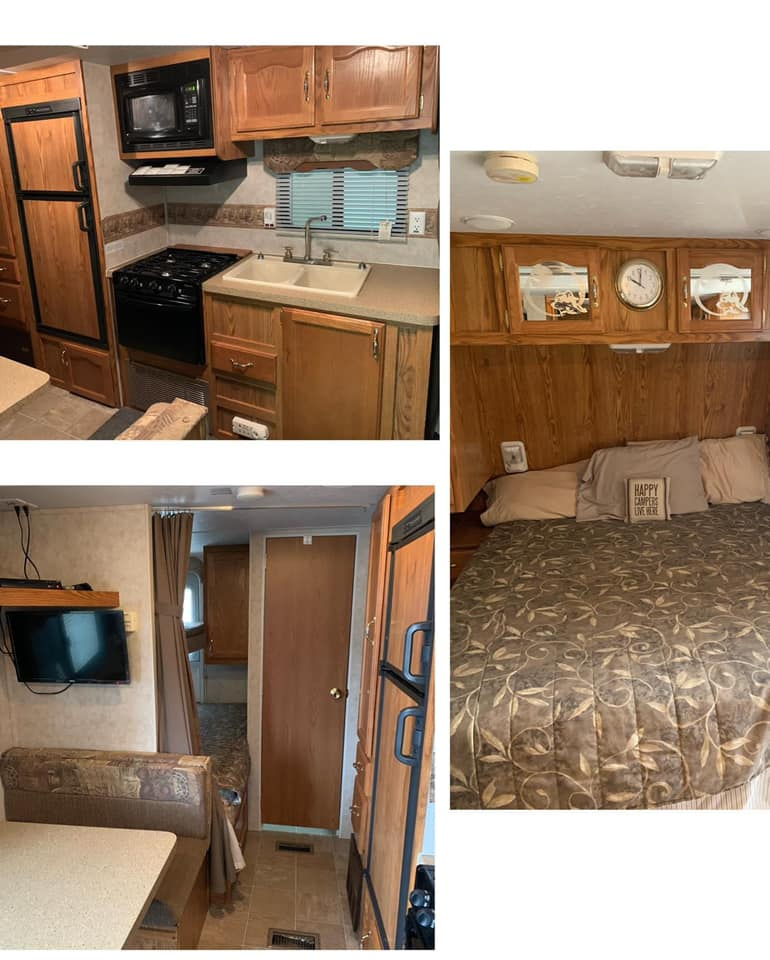 You Have to See This $800 Cherokee Lite Travel Trailer Transformation All Things with Purpose Sarah Lemp 1