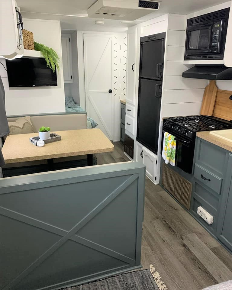 You Have to See This $800 Cherokee Lite Travel Trailer Transformation All Things with Purpose Sarah Lemp 10