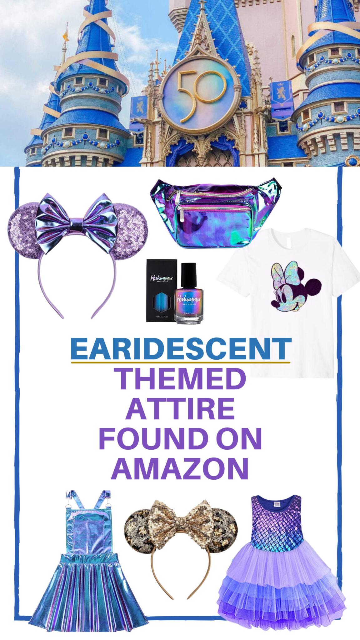Walt Disney World 50th Anniversary Earidescent Themed Attire Found on Amazon All Things with Purpose Sarah Lemp 1